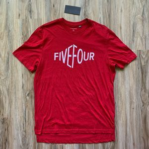 NWT Five Four Red Short Sleeve T-Shirt Large